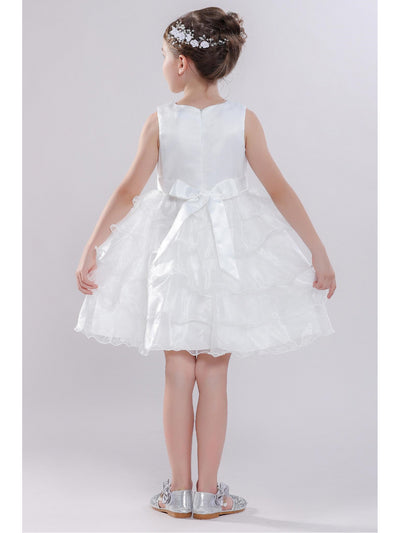 Girls Tiered Dress  white alt3
