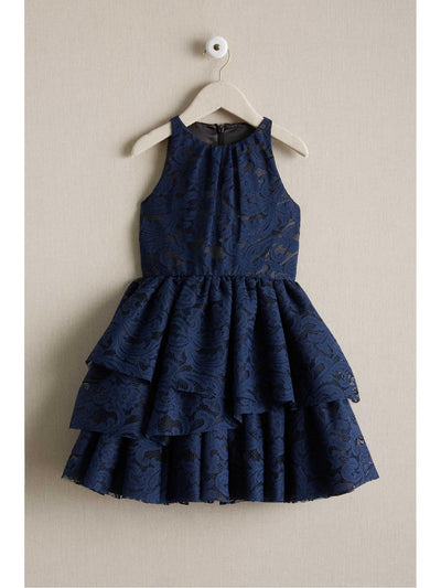 Girls Tiered Lace Dress  nav alt1