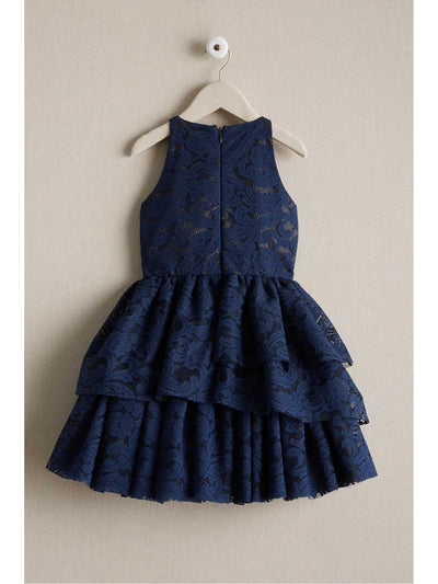 Girls Tiered Lace Dress  nav alt2