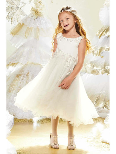 Girls Trailing Flowers Dress