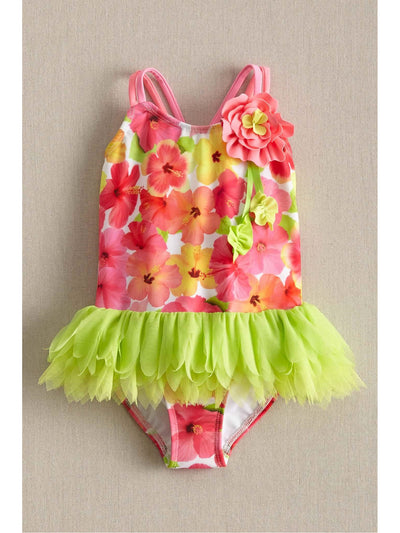 Girls Tropical Princess Swimsuit