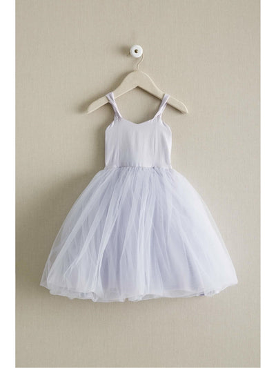 Girls Tulle Tie-back Dress