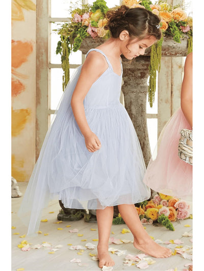 Girls Tulle Tie-back Dress  lav alt1
