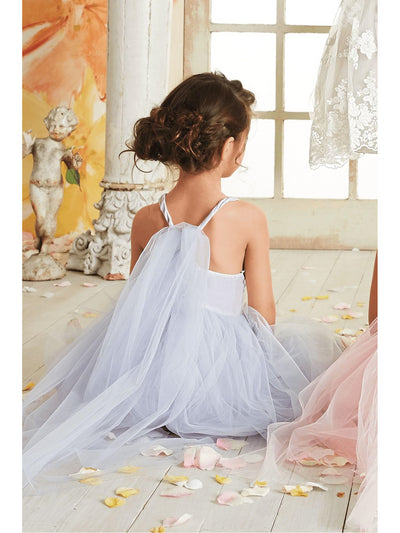 Girls Tulle Tie-back Dress  lav alt3