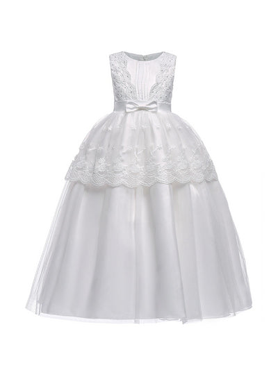 Girls Tuxedo Dress  white alt1