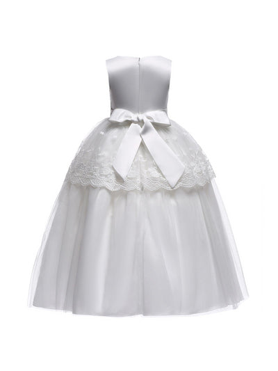 Girls Tuxedo Dress  white alt2