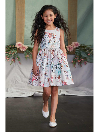 Girls Twilight Floral Dress
