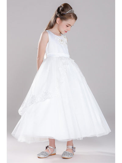 Girls Twirl Dress  white alt1