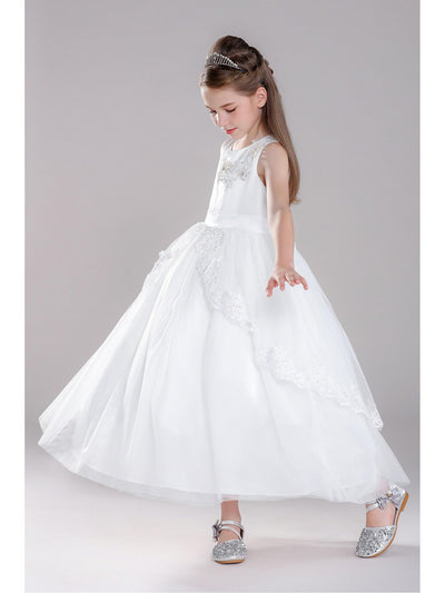 Girls Twirl Dress  white alt3