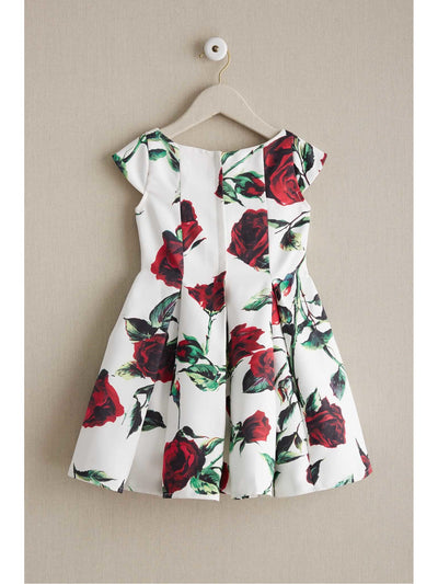 Girls Twirly Rose Dress  ivo alt2