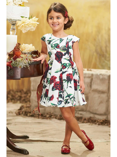 Girls Twirly Rose Dress  nc alt1