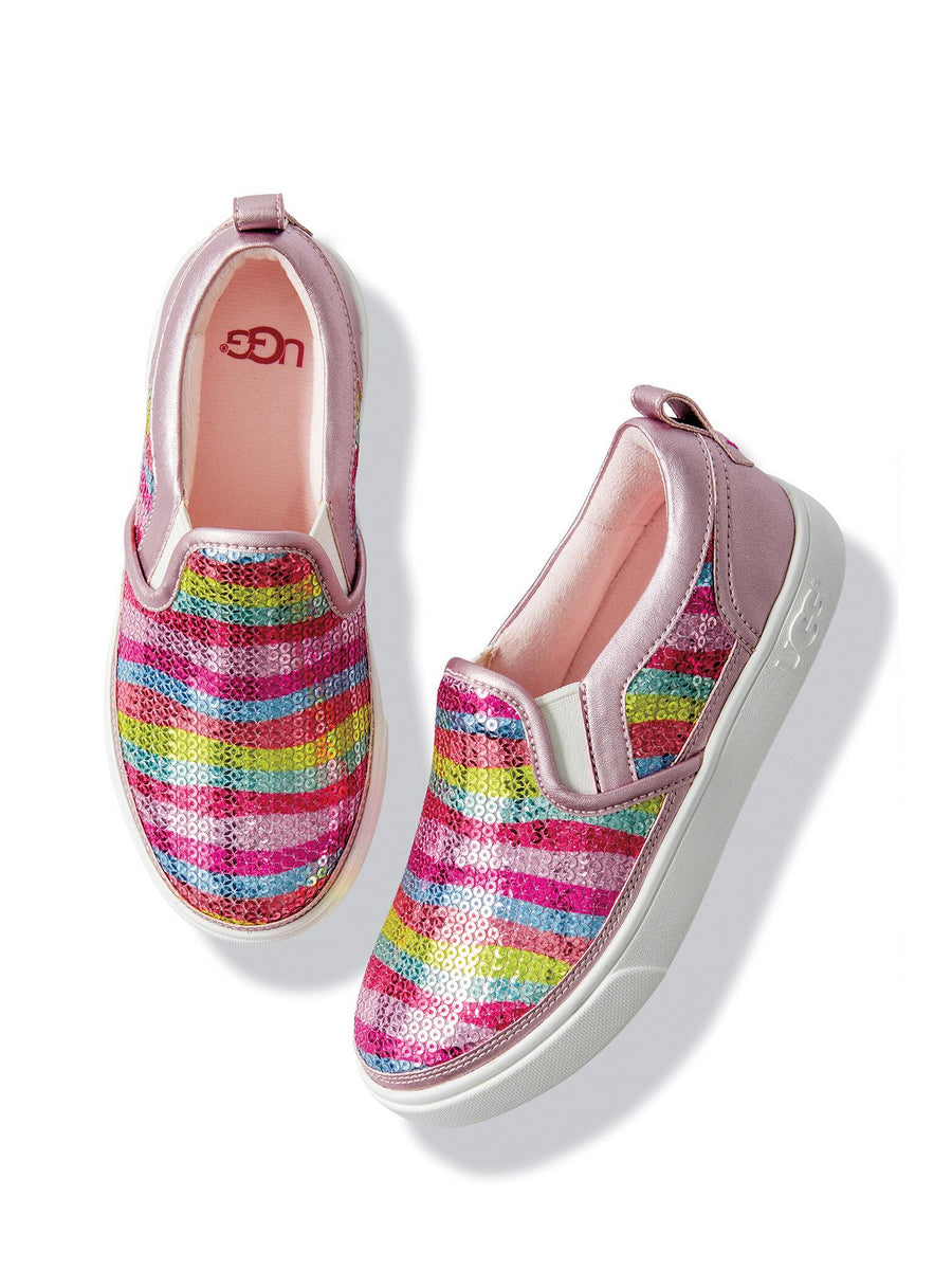 Girls UGG® Caplan Mural Slip-On Sneakers