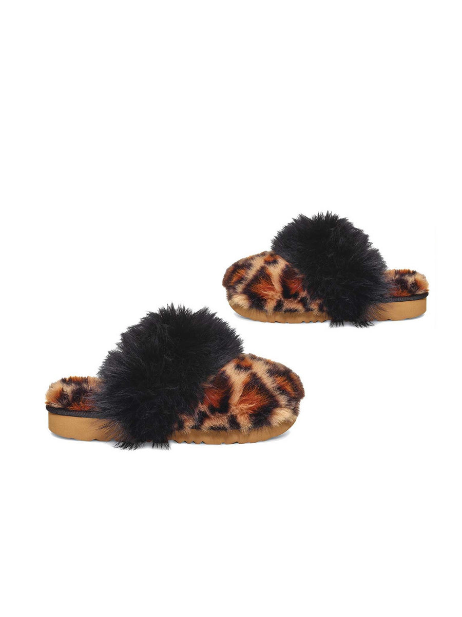 Girls UGG® Cozy II Leopard Slippers