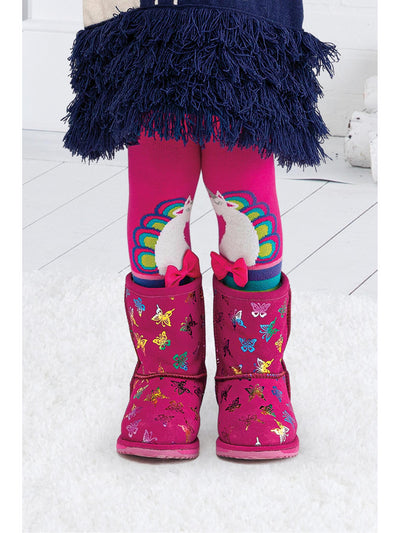 Girls Unicorn & Stripes Tights
