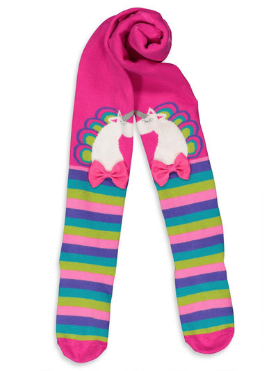 Girls Unicorn & Stripes Tights  hpi alt2