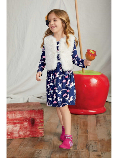 Girls Unicorn Fantasy Dress  nav alt1