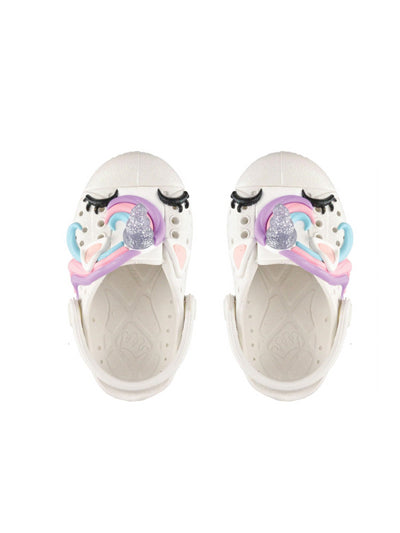 Girls Unicorn Sandals  white 1