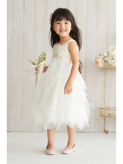 Girls Vanilla Petals Dress  ivo alt1