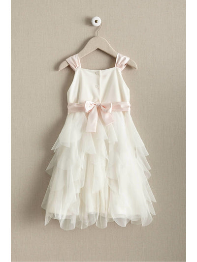 Girls Vanilla Petals Dress  ivo alt2