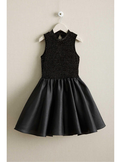 Girls Velvet & Taffeta Dress