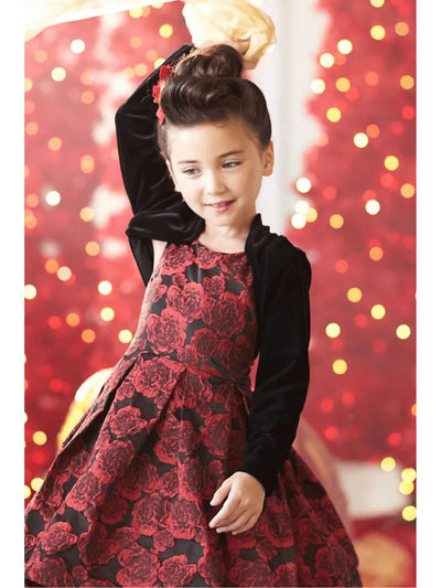Girls Velvet Dress-Up Shrug  bla alt1