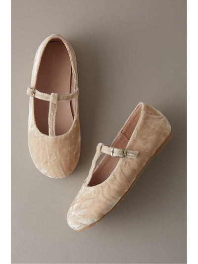 Girls Velvet T-Strap Shoes  ivo 1
