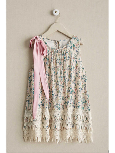 Girls Vintage Floral Dress  lpi alt1