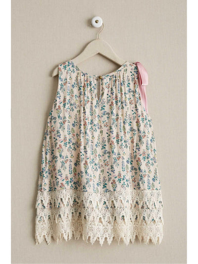 Girls Vintage Floral Dress  lpi alt2
