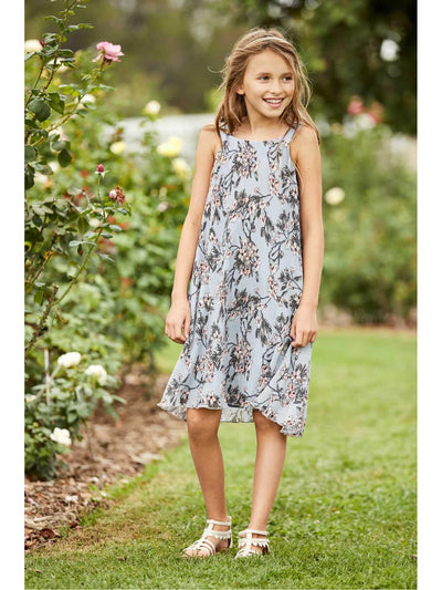 Girls Waterfall Pleats Dress