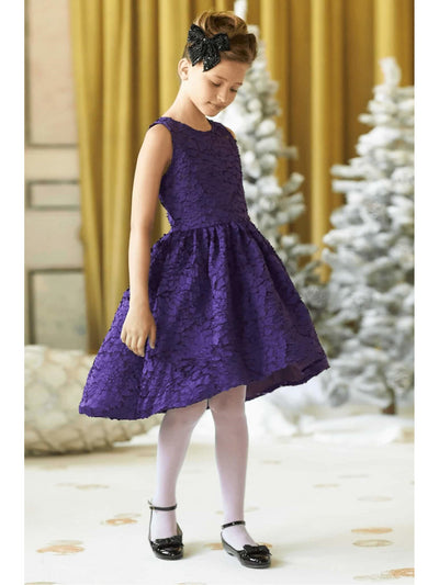 Girls Winter Blooms Dress  pur alt1