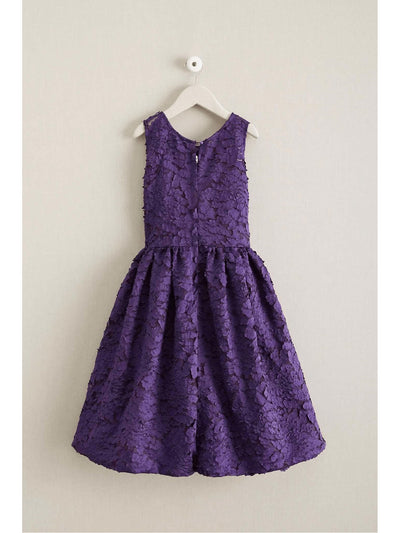 Girls Winter Blooms Dress  pur alt2