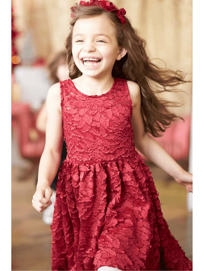 Girls Winter Blooms Dress  pur alt3