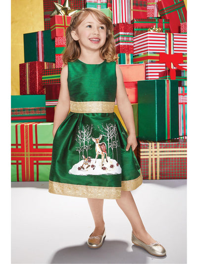 Girls Winter Fawn Dress