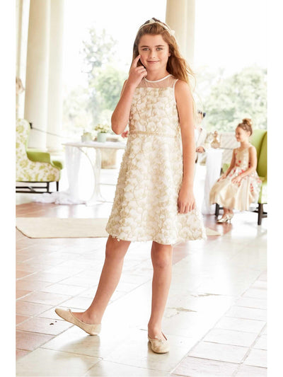 Girls Wispy Flowers Dress  ivo alt1