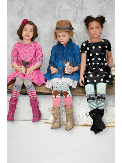 Girls Woodland Friends Sweater Tights  hpi alt1