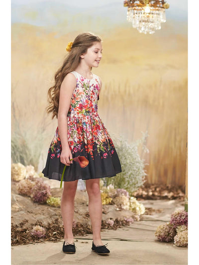 Girls Zoe Bouquet Dress  pur alt1