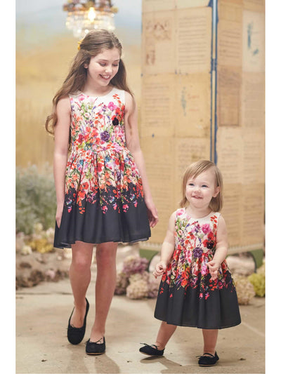 Girls Zoe Bouquet Dress  pur alt3