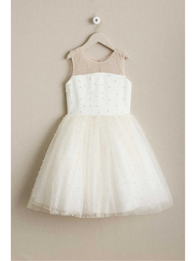 Girls Zoe Maisie Pearl Embellished Dress