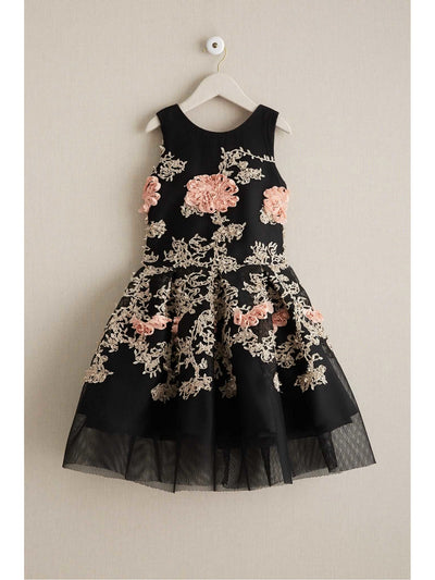 Girls Zoe Ribbon Blossom Dress