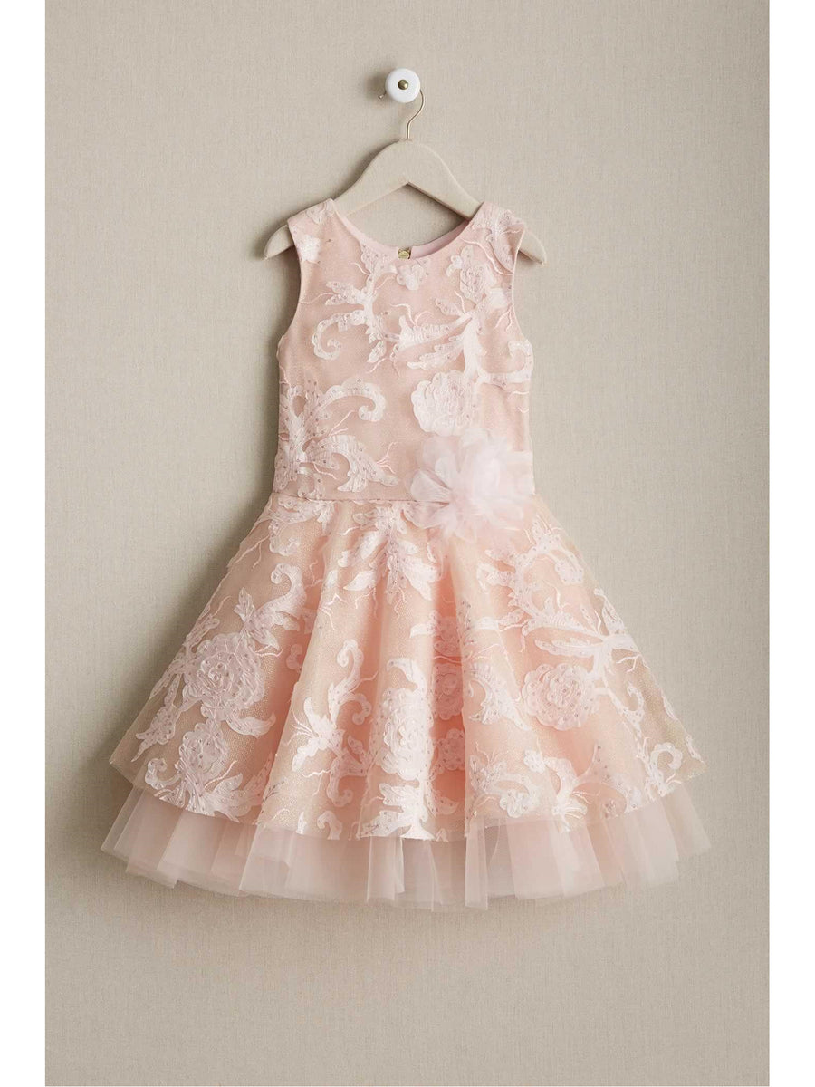 Girls Zoe Savannah Blush Dress