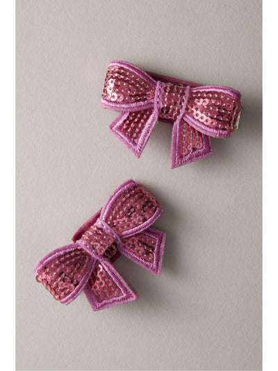 Girls Glitter Bow Barrettes (Set of 2)