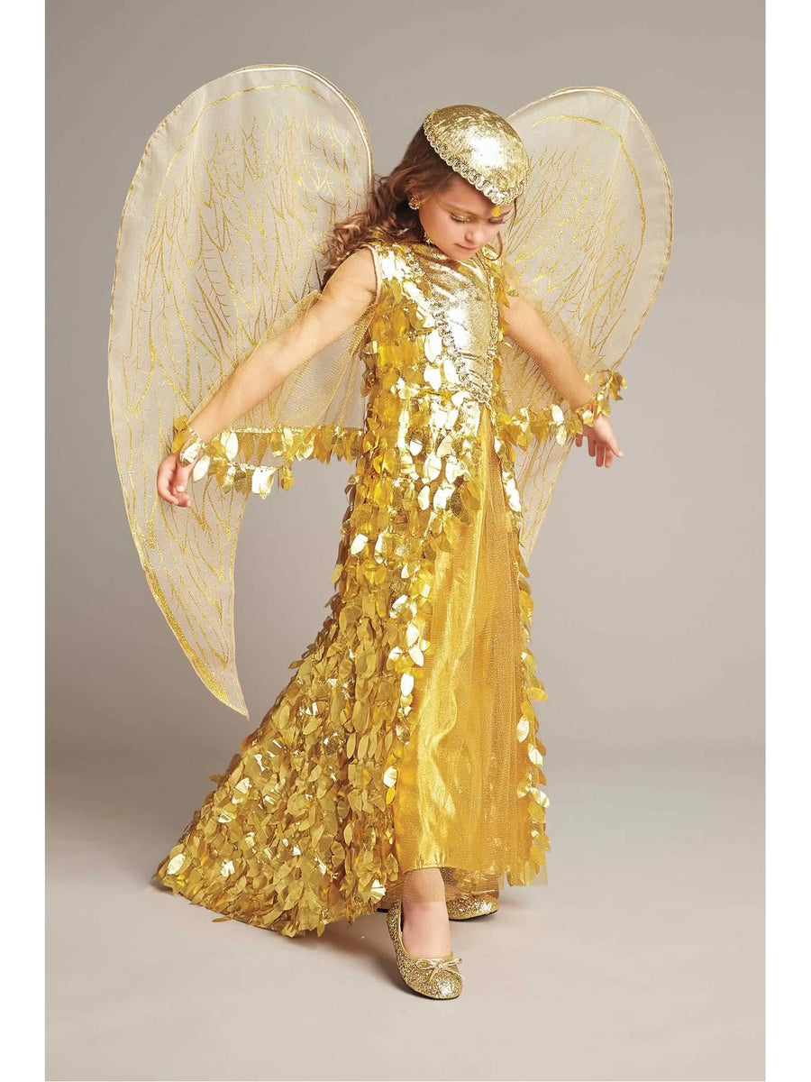 Gold Phoenix Costume For Girls