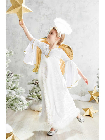 Golden Angel Costume for Girls  whi alt1