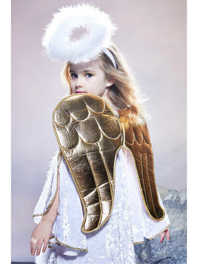 Golden Angel Costume for Girls  whi alt2