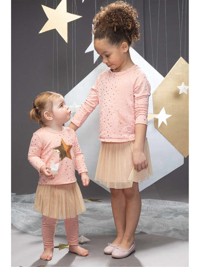 Golden Star Top & Tutu Leggings For Baby  blwt alt2