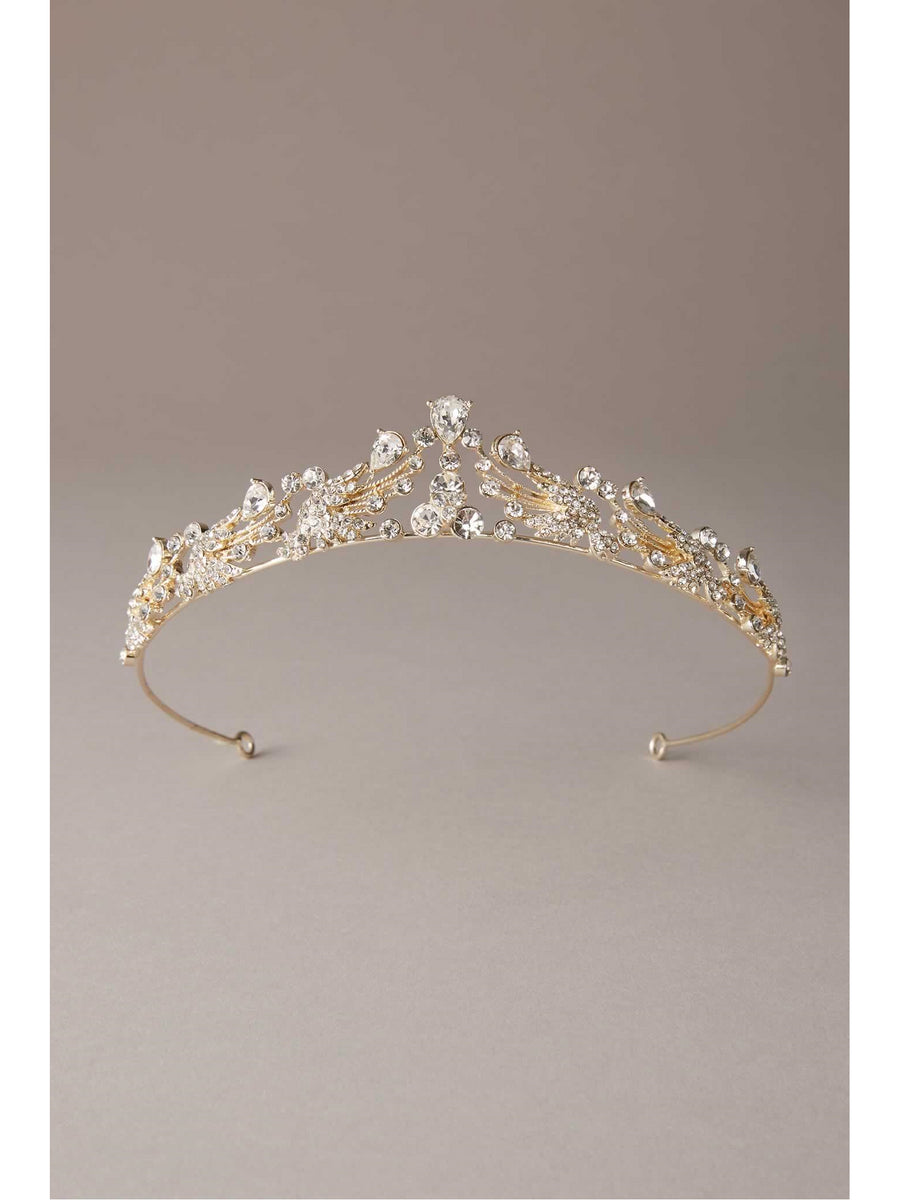 Golden Swarovski® Crystal Tiara