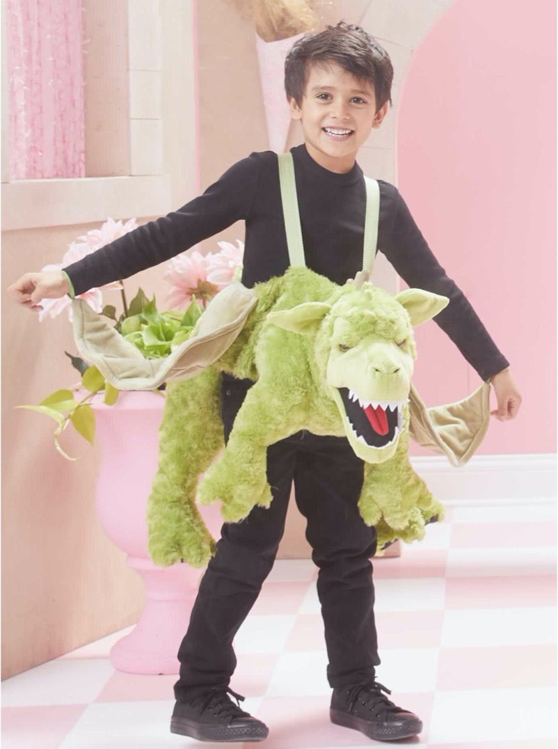 Green Ride-in Dragon Costume for Kids
