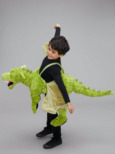 Green Ride-in Dragon Costume for Kids  gre alt2