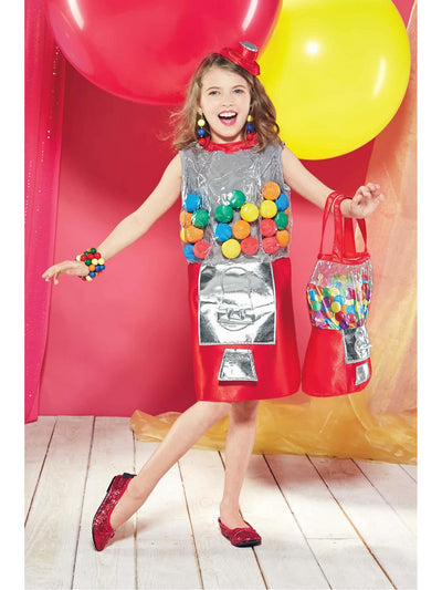 Gumball Machine Costume for Girls  red alt1