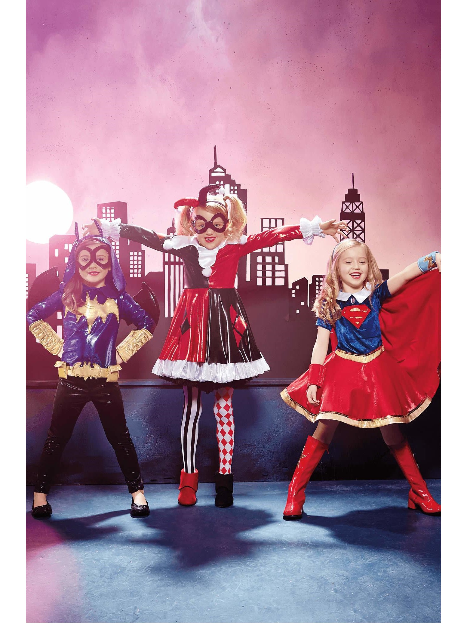 Harley Quinn DC Super Hero Girls Everyday Dress-Up Outfit New